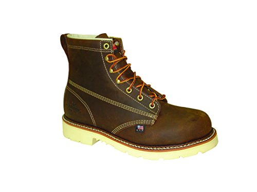 Thorogood Men's American Heritage 6 Inch Safety Toe Lace-up Boot, Brown, 11 2E US