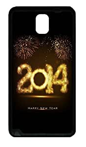 2015 Happy New Year Fireworks Custom Designer For Iphone 6 4.7 Inch Case Cover - Hard - Black