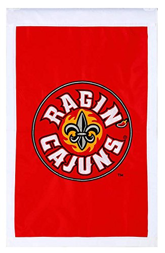 - NCAA Louisiana-Lafayette Ragin Cajuns 28'' x 44'' Vermilion Applique Vertical Banner Flag