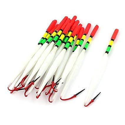 eDealMax Bobber de la Pesca Con caña de plástico flotador herramienta 6 pulgadas 20 piezas del