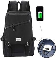 sacport @ Mochila de Ordenador portátil Bolsas de Escuela Mochilas para portatil Gran Capacidad con Puerto de Carga USB Mochila Viajes para Hombres y ...
