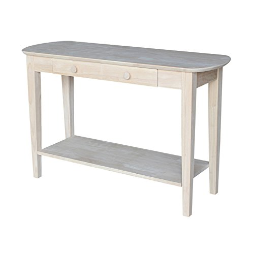 (International Concepts OT-5S Phillips Oval Sofa Table, Unfinished)