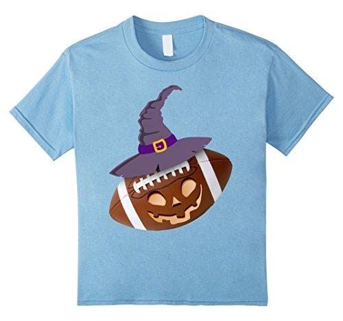 Kids America Football Funny Emoji Hallween Costume - Football 10 Baby Blue