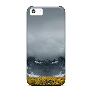 Durable Protector Case Cover With Waterfalls On Flowers Hot Design For Iphone 5c