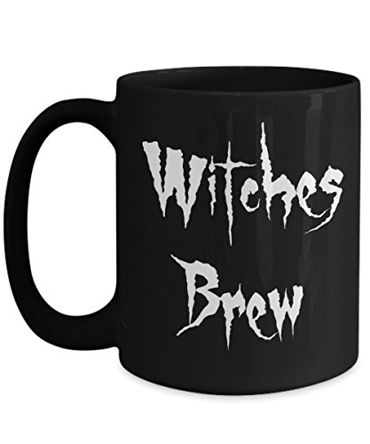 (Happy Halloween Witches Brew 15 oz Black Coffee Tea Mug by Blue Feather Web)