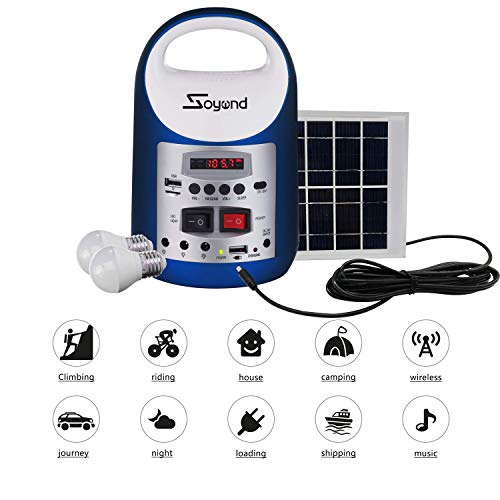 soyond Portable Solar Generator with Solar Panel Solar Powered Generator Inverter Small Basic Portable Electric Generator Kit, Solar Lights for Home, Camping, Power for Solar Fans, 1-Year Warranty by soyond (Image #3)
