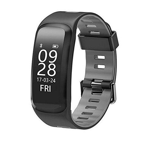 F4 Smart band Smart wristband Heart rate tracker Blood pressure oxygen Fitness bracelet IP68 Waterproof GPS Smart watch (Black)