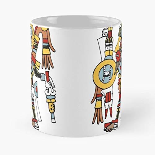 Pre Columbian Mexico Mixtec Warrior Gift Coffee/tea Ceramic Mug 11 Oz