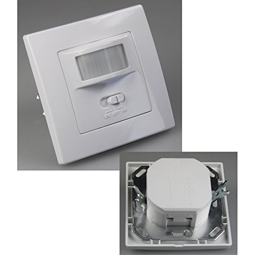 Unterputz PIR-Bewegungsmelder 160° LED geeignet, 2-Draht Technik, weiß