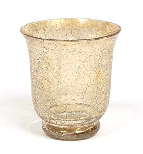 Home Decoration Accessories Mercury Glass Votive Candle Holder Gold Crackle Glass Effect Set of 4