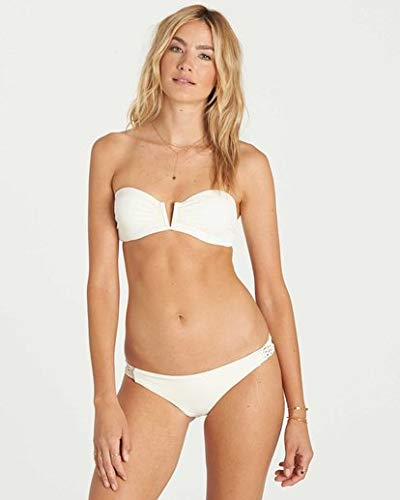 Billabong Women's It's All About The Details Bandeau Bikini Top, Seashell, ()