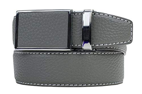 Go-In! Pebble Grain Smoke Grey Leather Golf Belt with Hidden Golfer Tools - Nexbelt Ratchet System - Golfer Golf Belt