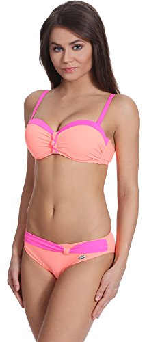 Verano Rosa Salmone J51N3T1 Push up Bikini Donna RwrRUg