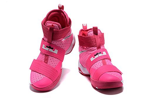 Men's Women's Air Zoom Basketball Shoe Soldier 10 Basketball Trainers Sneaker pink - Soldier American Shoes