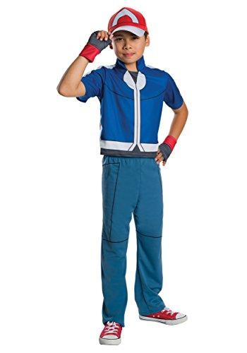 Doe Costumes (Child Pokemon Ash Deluxe Costume - Size Medium)