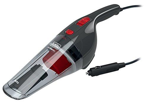 Black + Decker Auto-Handstaubsauger mit 12V Anschluss und Zubehör, Zwei-Stufen-Filtrationssystem, NV1210AV