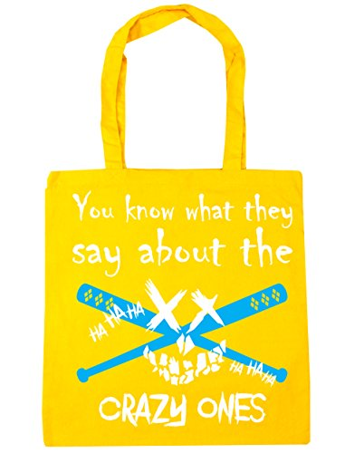 Shopping Gym Crazy Beach What Ones They litres 10 Yellow You Tote x38cm The Know Bag Say About 42cm HippoWarehouse ApwvxPq1W
