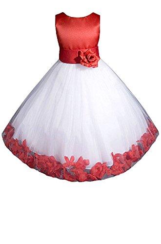 AMJ Dresses Inc Big-Girls' Red Flower Girl Christmas Dress E1008 Sz 12 ()