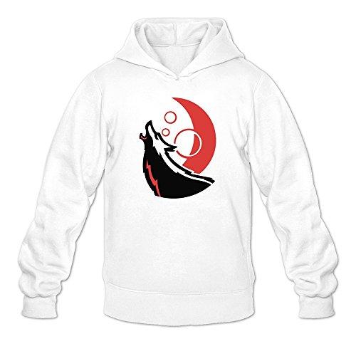 Men's NC State Wolfpack Power Mascot Logo Hoodie White