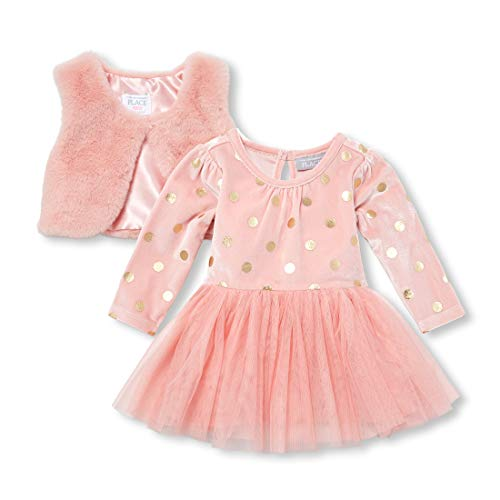 The Children's Place Baby Girls Special Occasion Dress, SACHETPINK, 6-9MONTHS