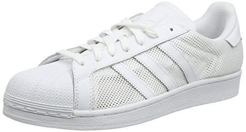 adidas Originals Unisex Adults' Superstar Low-Top Sneakers, White (Footwear White/Footwear White/Footwear White), 9.5 UK (Adidas Weiß Damen)