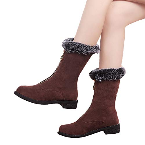 new Women Girls Winter Fluff Flat Heel Thigh Socks Mid Tube Calf Soft Snow boots save more