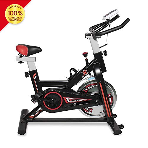 LTTROMAT Exercise Bike Indoor Cycling Bike Spinning Bicycle Stationary Bike With LCD Display And Heart Rate Adjustable…