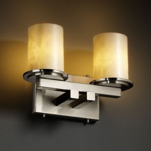 Justice Design CLD-8772-10-MBLK Dakota 2-Light Straight-Bar Wall Sconce, Choose Finish: Matte Black Finish, Choose Lamping Option: Standard Lamping (8772 Mblk Matte)