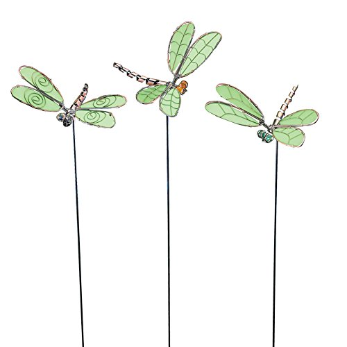 Glow In The Dark Dragonfly Garden Stakes - Set Of 3