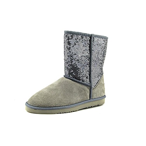 Lamo Womens Sequin Girl Durable Pull On Snow Boot Silver lai6yt
