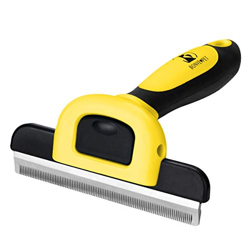 Pet Grooming Brush Effectively Reduces Shedding by up to 95% Professional Deshedding Tool for Dogs and Cats ... (Up Best Pet Grooming)