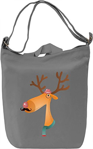 Moustache deer Borsa Giornaliera Canvas Canvas Day Bag| 100% Premium Cotton Canvas| DTG Printing|