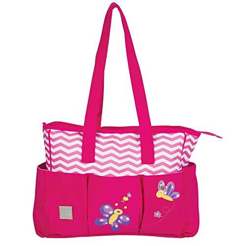 Mee Mee Multipurpose Diaper Bag  With Changing Mat, Magenta Pink