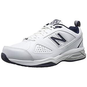 New Balance Men's 623v3 Training Shoe, White/Navy, 10 D US