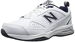 New Balance Men's Mx623v3 Casual Comfort Training Shoe, Whitenavy, 7 2e Us