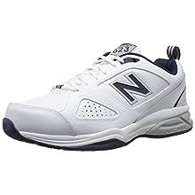 New Balance Men's MX623v3 Casual Comfort Training Shoe, White/Navy, 10 W US