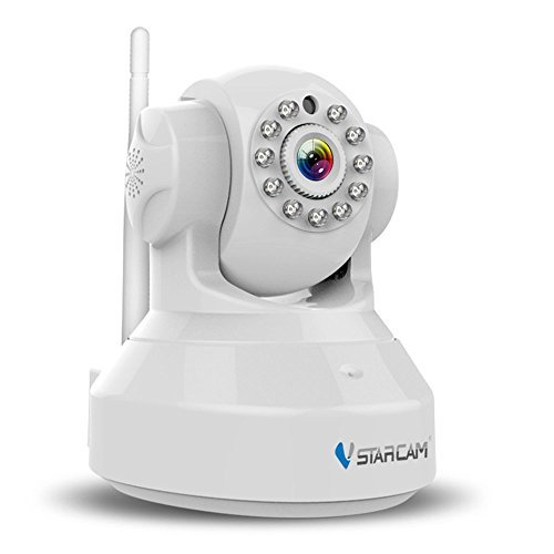 TuoP@ Vstarcam C7837WIP H.264 1280x720p Indoor Wireless IP Camera Built in Microphone with One Key WI-FI Configuration APP Motion Detection Remote Viewing Function 3dBi WIFI Antenna Home Surveillance [並行輸入品] B01NCRQ1TT
