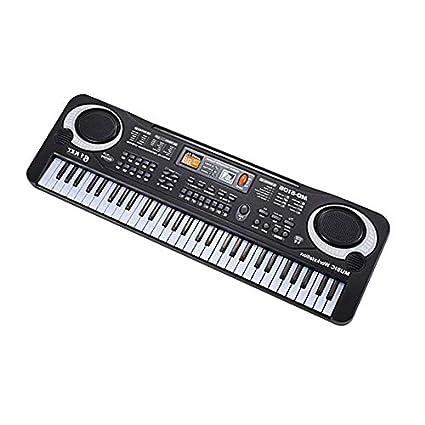 Teclado de música electrónica, 61 teclas, órgano eléctrico con micrófono, instrumento musical para