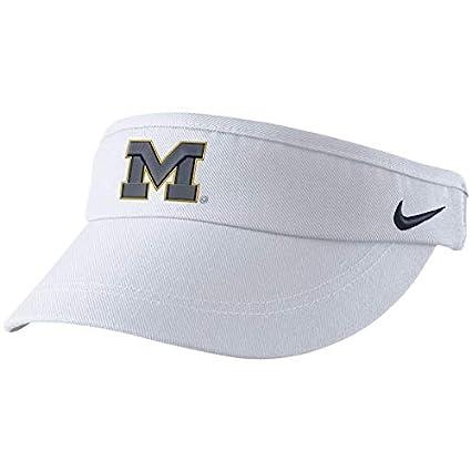 37dd664c185 Amazon.com   Nike White Michigan Wolverines Sideline Dri-FIT Visor ...