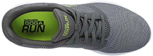Skechers Mens Go Run 600-55068 Sneaker Carboncino / Lime