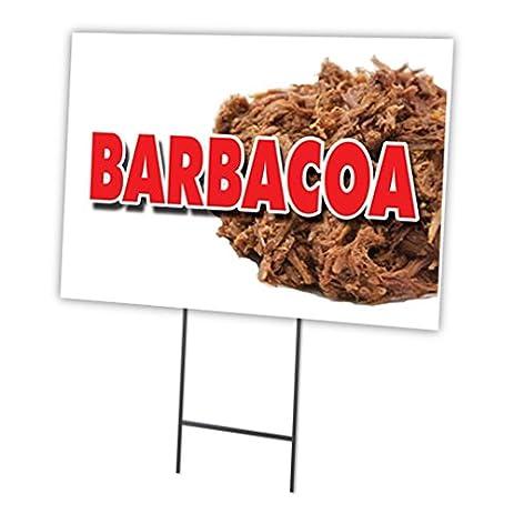 """BARBACOA 12""""x16"""" Yard Sign & Stake outdoor plastic coroplast window"""