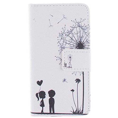 For Samsung Galaxy S5 G900 Case, IVY Dandelion Graphics - Cute Fashion Magnetic Snap Wallet Card Flip Synthetic Leather TPU With Stand Cover Case For Samsung Galaxy S5 G900