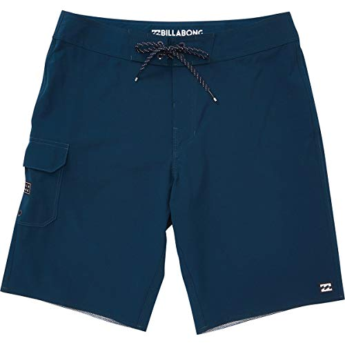 Billabong Men's Classic Solid Stretch Boardshort, Navy All Day, - Boardshorts Classic
