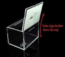 transparente Acrílico Sugerencia caja de donación de la Caridad ...