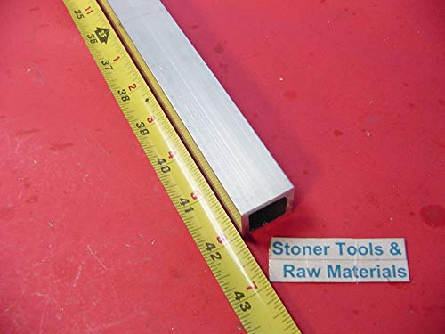 (1''x 1''x 1/8'' Wall x 42'' Long Aluminum Square Tube 6063 T52 1'' SQ x .125'' W New)