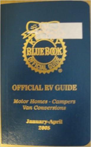 Kelly Blue Book Official Rv Guide Motor Home Campers Van