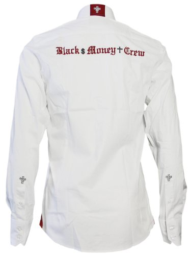 BLACK MONEY CREW Designer Hommes Chemise - Shoulder -