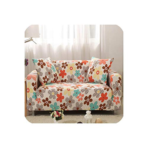 Flowers Printed Slipcover (L Sectional or Loveseat or Corner) Sofa Cover All Inclusive Couch Case Tight Wrap Elastic,20183574,M 145-185CM ()