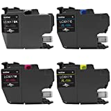 Genuine Brother LC3017 (LC-3017) (BK/C/M/Y) High Yield Color Ink 4-Pack (Includes 1 each LC3017BK, LC3017C, LC3017M, LC3017Y)