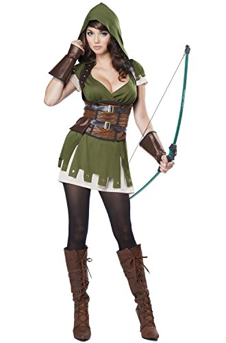 [California Costumes Women's Lady Robin Hood, Olive/Brown, Large] (Robin Corset Costume)